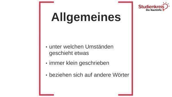 Adverb - Wortart kennenlernen - Deutsch Klasse 5
