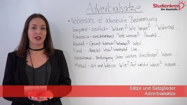 Adverbialsatze Adverbiale Nebensatze In Der 3