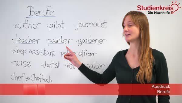 Berufe Berufsbezeichnungen Im Englischen Vokabelliste
