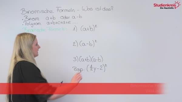 Binomische Formeln - was ist das? - Mathematik Klasse 9