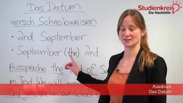 Das Englische Datum Englisch Klasse 5