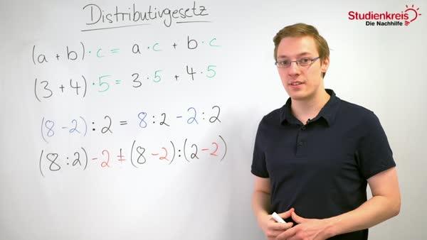 Distributivgesetz - Übungen & Aufgaben