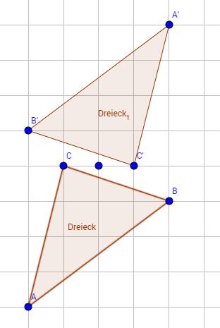 Zwei ähnliche Dreiecke