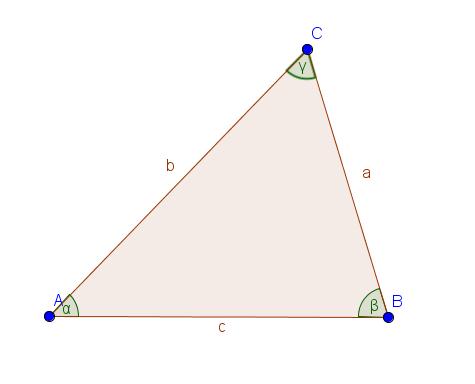 allgemeine Darstellung eines Dreiecks