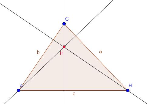 Höhenschnittpunkt eines Dreieck