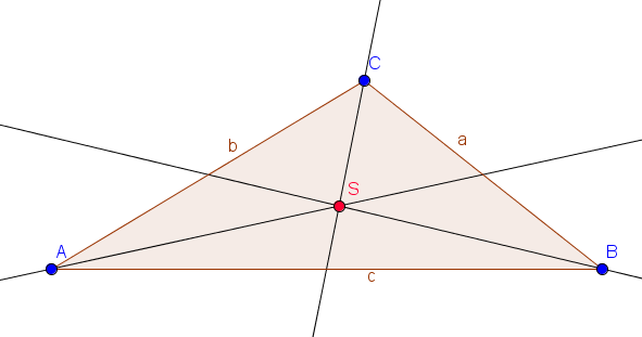 Schwerpunkt eines Dreiecks