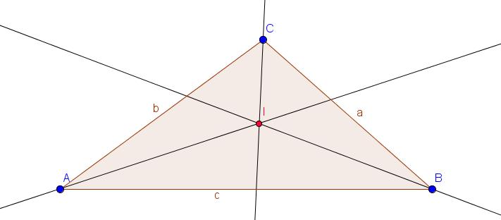 Inkreismittelpunkt eines Dreiecks