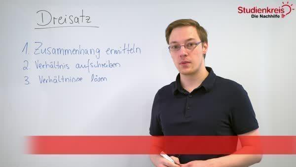 Dreisatz - Aufgaben, Erklärung und Berechnung