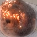 Brennende Eisenwolle