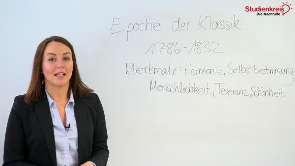 Die Epoche Der Weimarer Klassik 1786 1832