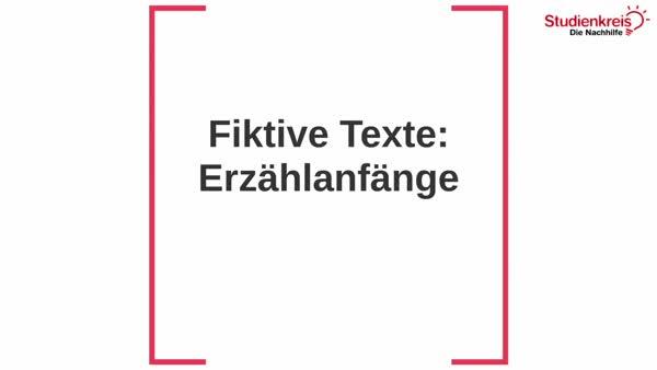 Interpretation Epischer Texte So Gehts