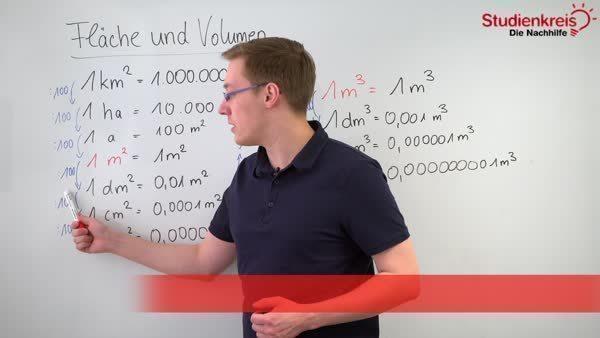 Fläche und Volumen - Einheiten umrechnen