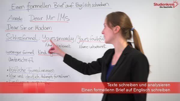 Einen Formellen Brief Auf Englisch Schreiben Hinweisetipps