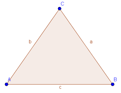 Beispiel für ein gleichschenkliges Dreieck
