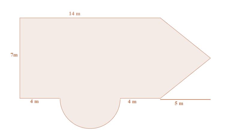 Zusammengesetzte Flächen - Flächeninhalt und Umfang