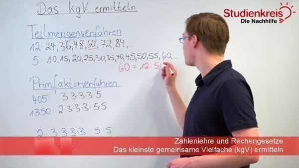 Kleinstes gemeinsames Vielfaches (kgV) berechnen
