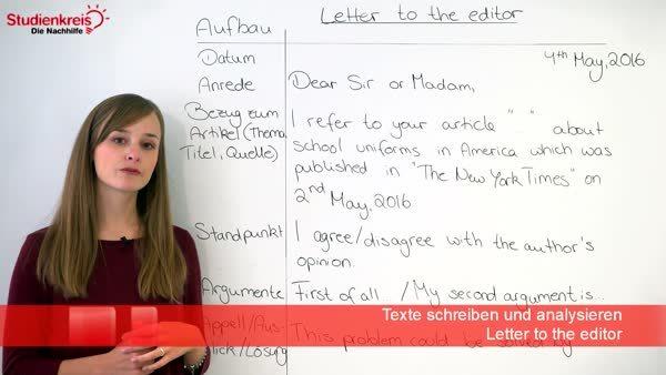 Wie Schreibe Ich Einen Letter To The Editor