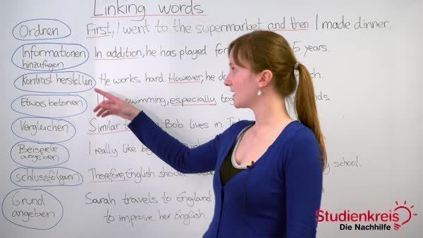 Linking Words Verbindungswörter Im Englischen