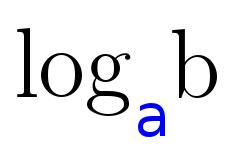 Logarithmus mit der Basis a und dem Numerus b.