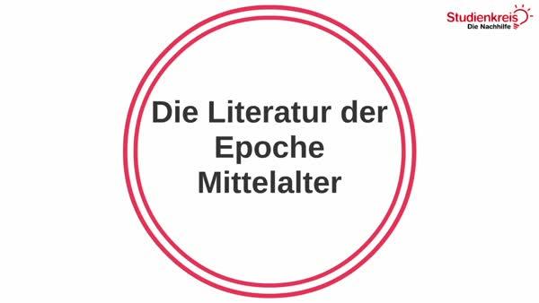 Die Literatur Der Epoche Mittelalter