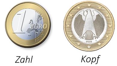 Eine 1 ? Münze von vorne und hinten