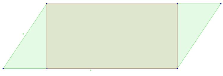 Rechteck im Parallelogramm