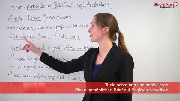Einen Persönlichen Brief Auf Englisch Schreiben Hinweise Und Tipps