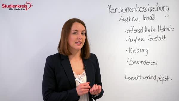 Beispiele personenbeschreibung