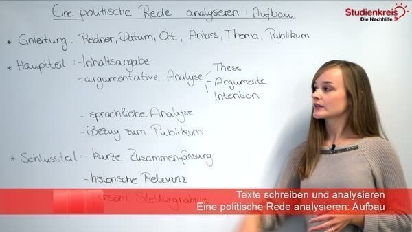 Politische Rede How To Write A Speech Analysis
