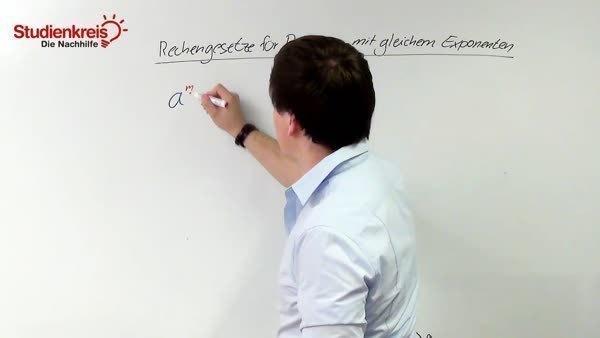 Potenzen multiplizieren, dividieren - gleicher Exponent