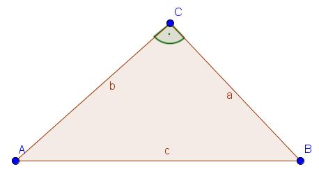 Beispiel für ein rechtwinkliges Dreieck