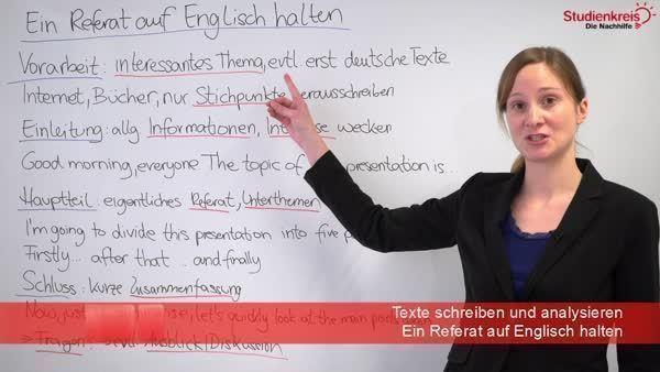 Ein Referat Auf Englisch Halten Aufbau Hilfen