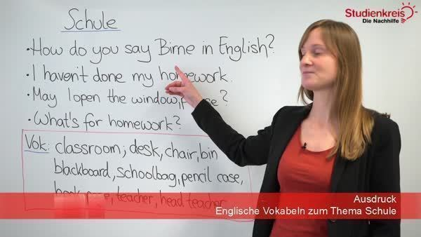 Das Thema Schule Im Englischen Vokabelliste Studienkreisde