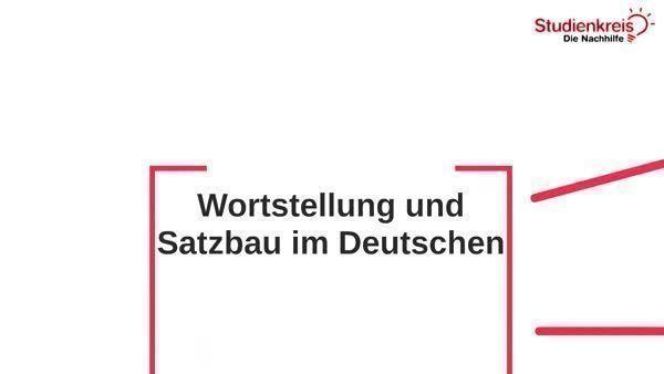 Verb - Stellung im Satz - Deutsch Klasse 5