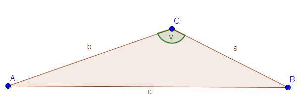 Beispiel für ein stumpfwinkliges Dreieck