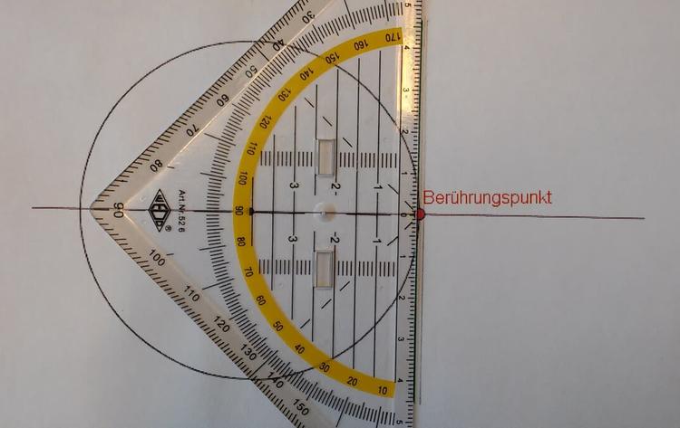 Geraden, Strecken und Winkel am Kreis