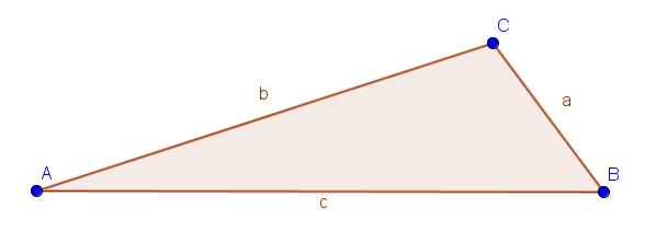 Beispiel für ein ungleichseitiges Dreieck