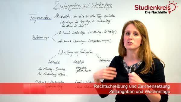 Zeitangaben Und Wochentage Regeln Deutsch