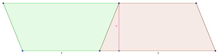 Aus zwei Trapezen wird ein Parallelogramm